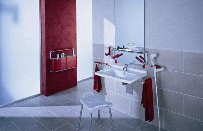 Accessoires und Badezimmerausstattung für Behinderte Armatur